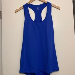 Z by Zella Royal Blue Racerback Tank Large